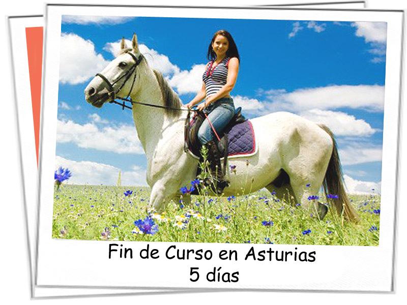 Chica en ruta a caballo por los parajes asturianos